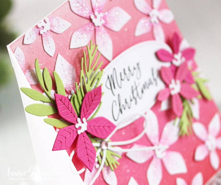 Poinsettia Christmas (detail 1) by Laurie Schmidlin