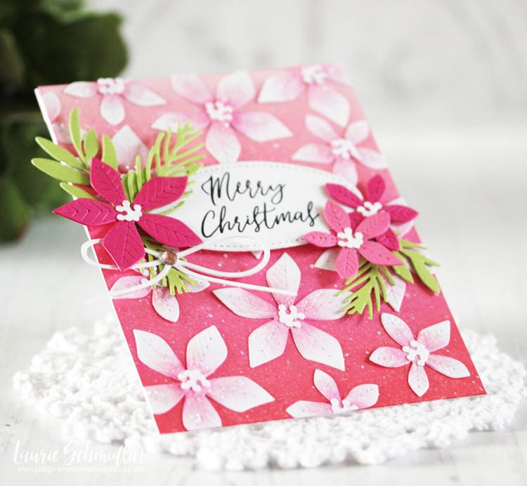 Poinsettia Christmas (detail 2) by Laurie Schmidlin