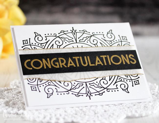 Deco Congrats (detail 2) by Laurie Schmidlin