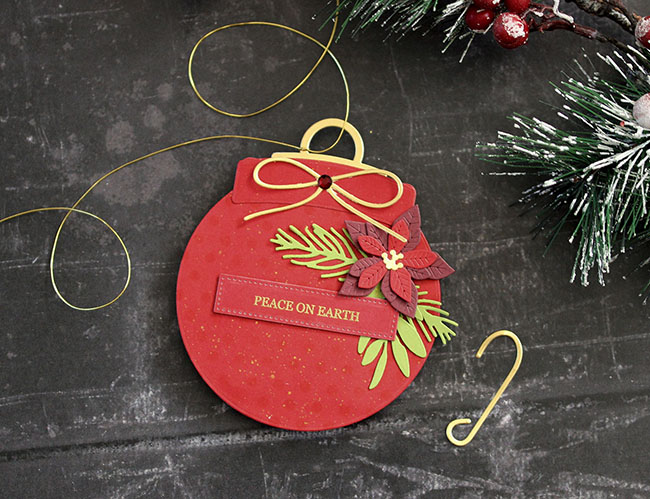 Peace on Earth Ornament (small) by Laurie Schmidlin