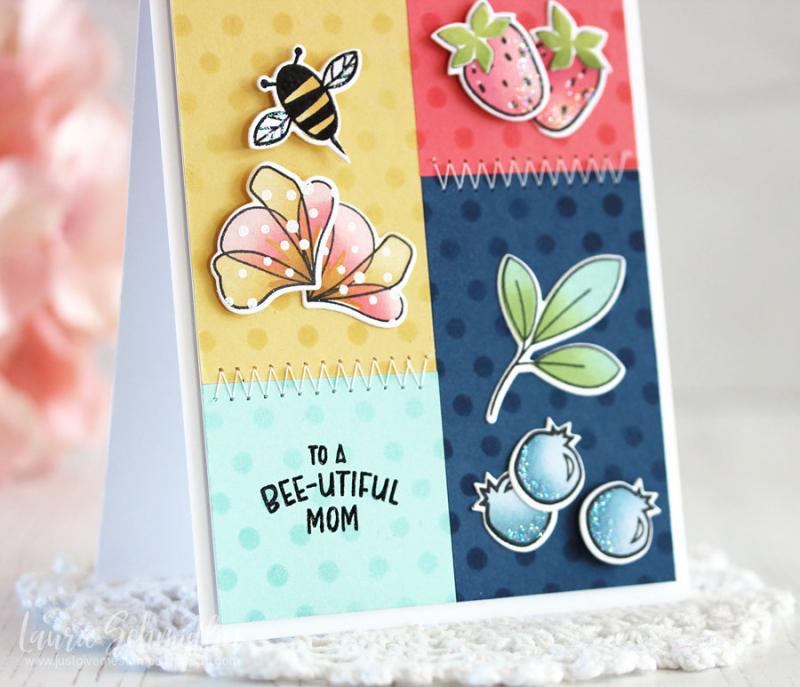 Bee-utiful Mom (detail 2) by Laurie Schmidlin