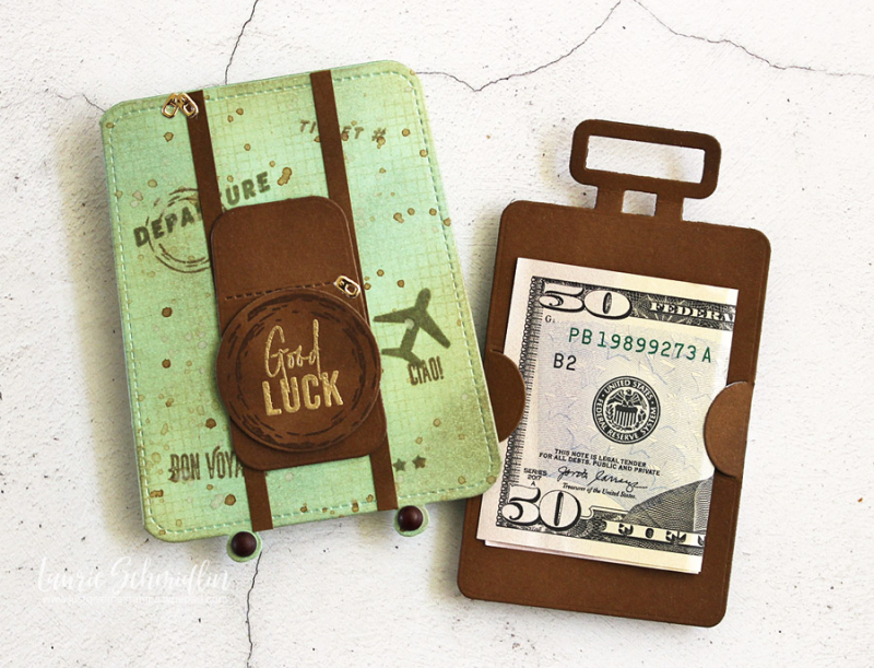 Good Luck Gift Card Holder (detail 3) by Laurie Schmidlin